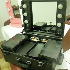 Wheeled Trolley Makeup Artist Case Lighted Counter Top Station (No LEGS)