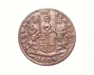 1804 British East Indies Island of Sumatra 1 Keping