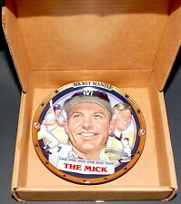 """Mickey Mantle Plate """"The Mick"""" Hamilton Collection 1995 Limited Edition Signed"""