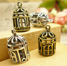 4/20/100pcs Lot Tibetan Silver DIY 3D Cage Jewelry Charm Pendant 20x12mm A907C
