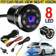 170° Cmos Car Rear View Backup 8 Led Camera Reverse Night Vision Waterproof