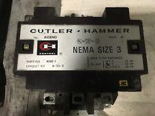 Cutler-Hammer Nema Size 3 contactor, A10EN0, 25-50hp, Series A1, 120/110v coil