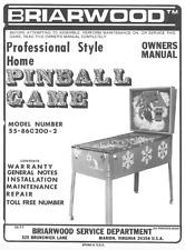 BRIARWOOD PINBALL GAME Owner's Manual Repair Maintenance FLIPPER