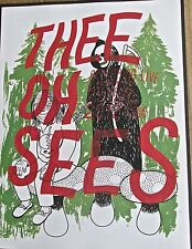 The Oh Sees Mini-Concert Poster Reprint Designed for  2012 Chicago IL  14x10