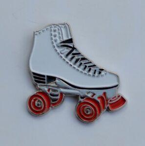White Roller Skate Quality Enamel Pin Badge