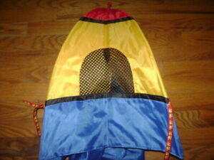"""Build A Bear WORKSHOP RED YELLOW BLUE TENT CAMPING 17"""" tall BABW"""