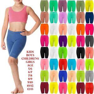 New Girls Kids Lycra Stretchy Dance Sports Bike Cycling Shorts School Hot Pants
