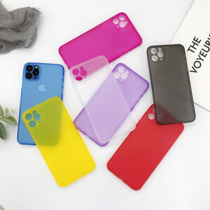 For iPhone 11 Pro Max Xs XR 7 8 Ultra-thin 0.44mm Matte Frosted Hard Case Cover