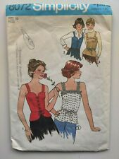 Vintage Simplicity 1977 Camisole and Top Sewing Pattern #8072 Size 10