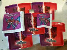 Transformers 2007 (5) Plastic Plates & G1 Vintage 1985 (8) Napkins Lot