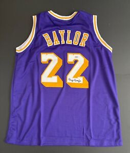 Elgin Baylor Signed Los Angeles Lakers Jersey PSA 4A21638