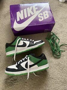Size UK 10 - Nike SB Dunk Low Black/Classic Green/White