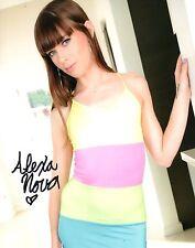 Alexa Nova In A Cute Dress Hand Signed 8x10 Photo Adult Model COA