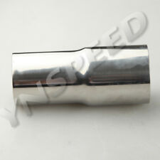 """2"""" To 2.5"""" OD Turbo Exhaust Intercooler Reducer Pipe 5"""" Long Stainless Steel AU"""