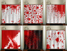 Blood Splatter Shower Curtain Spatter Psycho Horror Halloween Bathroom Fabric