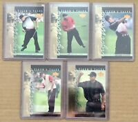(5) 2001 Tiger Woods Upper Deck Card Tiger Tales TT21-25 Golf RC PSA Masters 🐅