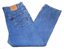 "* Levi's * Mens Vintage 505 Jeans 42""W X 30""L Regular Fit Blue Straight (G455)"