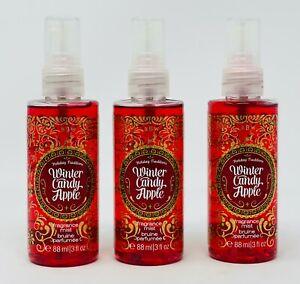 3 Winter Candy Apple Bath & Body Works Body Mist Travel Size 3 Oz New