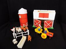 Vintage Fisher Price Little People Family Farm #2501 Barn Silo Hex Screw Sheep