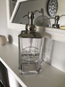 DR.H.GNADENDORFF APOTHECARY GLASS Hand Wash Soap Dispenser New