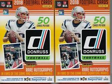 (2) 2018 Donruss Football NFL Trading Cards New 50ct. Retail HANGER Box LOT FS