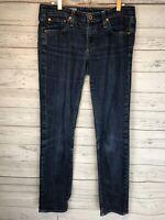 AG Adriano Goldschmied The Stilt Cigarette Skinny Leg Womens Blue Jeans Size 29R