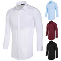 Mens Smart Slim Fit Business LONG SLEEVE Formal/Casual Dress Shirts Collection