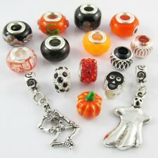 Bulk x15 European Beads and Charms Halloween Theme Set to fit Charm Bracelets
