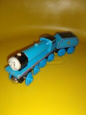 Thomas and Friends Wooden Train Blue Gordon with flat # 4 Tender No Stripes
