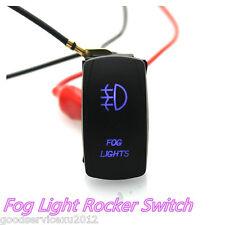 Practical 12V 20A/24V 10A Car Fog Lamp 5-Pin Laser Rocker Switch On-Off Blue LED
