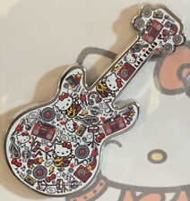 Hard Rock Cafe LAS VEGAS 2019 HELLO KITTY Collage Guitar PIN on Card LE 250 New!