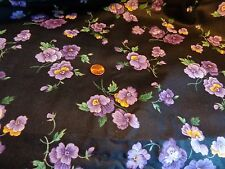 COTTON QUILTING SEWING CRAFTING FABRIC BY THE HALF YRD 44 WIDE VIOLET FLOWERS