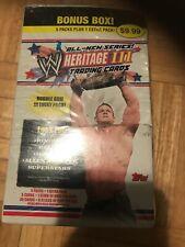 TOPPS HERITAGE III WWE WRESTLING TRADING CARD PACKS SERIES 3 2007 W/BOX