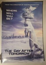 The day after tomorrow Original Cinema movie poster one sheet size dennis Quaid