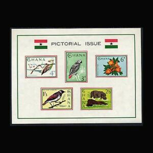 Ghana, Sc #199a, MNH, 1964, S/S, Flowers, Birds, Animals, A5SAI-9