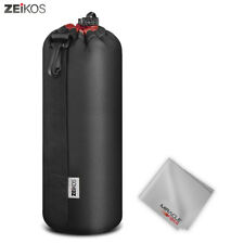 Zeikos Extra Large Size Lens Case Pouch for DSLR Camera Lens + Free MiracleFiber