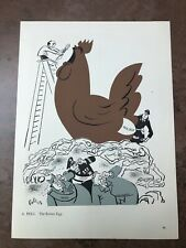 More details for original 1944 ww2 double sided print ! a. pelc - the rotten egg ( new order )