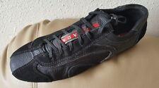 PRADA Nice Sneakers Men's Driver Leather/Suede Black Lace Sz 39 / 9 US Net $ 700