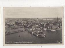 Stockholm Utsikt Fran Stadsjusets Torn Sweden Vintage RP Postcard 617b