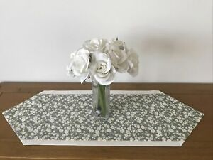 Luxury Mini Coffee Sideboard Table Runner Ivory & Vintage Floral lined 60cm Gift