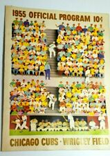 unscored 1955 CHICAGO CUBS program vs Milwaukee Braves ERNIE BANKS & HANK AARON