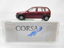eso-2890 Herpa 1:87 Opel Corsa weinrot metallic sehr guter Zustand