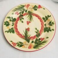 "Set of 4 Gail Pittman SIENA ACORN DINNER PLATES 10.5""  ** Christmas Memories"