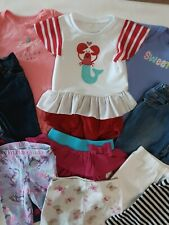Lot X12 Infant Girls Mixed Items Shirts/Bodysuits/Jeans/Sh orts Size 12 Mos.