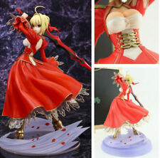New Japanese Anime Fate EXTRA Red Saber 23cm PVC Figure Figurine Model Toy