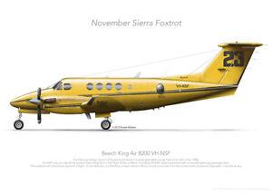 Beech B200 VH-NSF NSCA- A3+ Profile Print