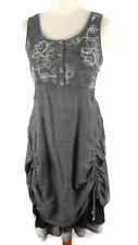 Joe Browns Strap Dress Size 42 to 58 Black Tones with Lacing 310 New