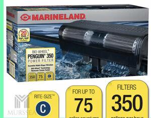 MarineLand Penguin 350 BIO Wheel Power Filter 50 to 70-Gallon , 350 GPH NEW