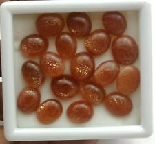 Natural Untreated Sunstone Oval Cabochon Lot 23 Pcs 9.50 12-11.50 14 MM 99 CT