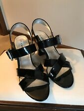 "RAMPAGE ""Juliano"" Black Patent Leather Multi Black High Heel Sandal size 8"